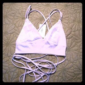 White Zaful bikini top